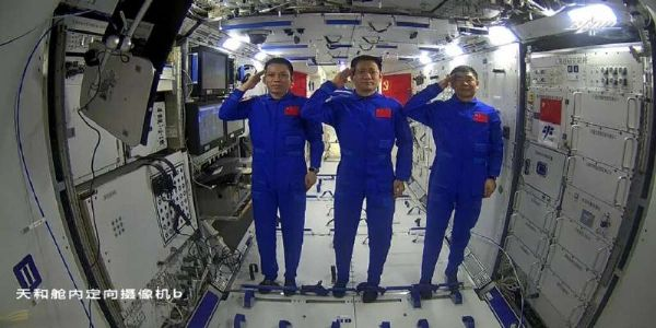 Two Chinese astronauts complete first spacewalk outside new Tiangong space station