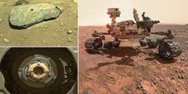 NASA's rover finally collects 1st rock sample of Mars